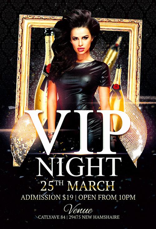 Free Club Flyer Templates Fresh Vip Night Club Flyer Template