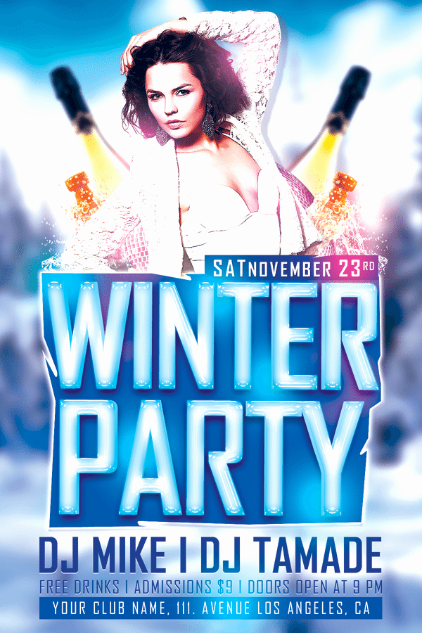 Free Club Flyer Templates Lovely Download Winter Bash Free Club Psd Flyer Template for