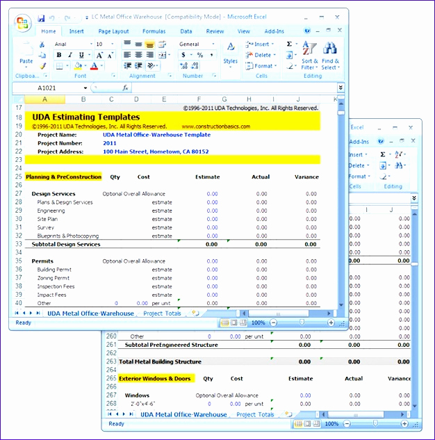 Free Construction Estimate Template Excel Beautiful 11 Free Construction Cost Estimate Excel Template