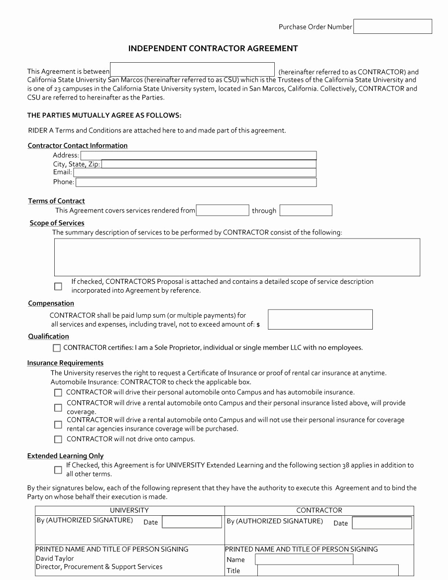 Free Contractor Agreement Template Awesome 50 Free Independent Contractor Agreement forms & Templates