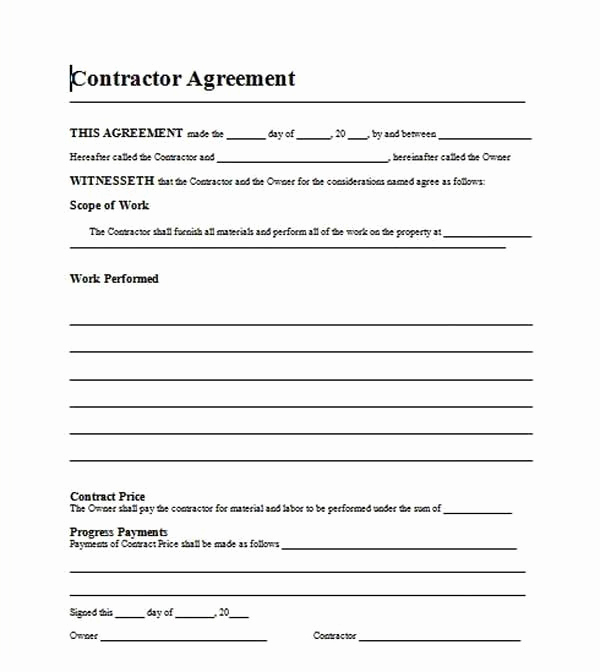Free Contractor Agreement Template Fresh Free Template Residential Roofing Contract