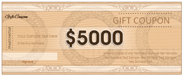 Free Coupon Template Word Luxury Gift Coupon Template Templates for Microsoft Word