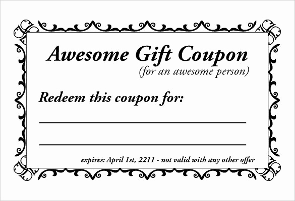 Free Coupon Template Word Unique Free Coupon Template Word Excel & Pdf Templates