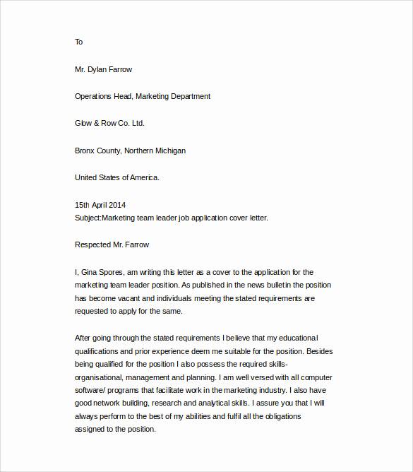 Free Cover Letter Template Word New 25 Cover Letter Example Download for Free