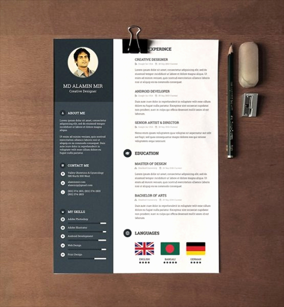 Free Creative Resume Templates Word Beautiful 28 Minimal & Creative Resume Templates Psd Word & Ai