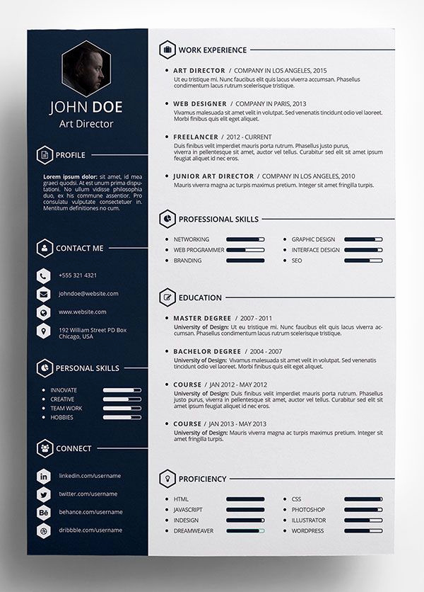 Free Creative Resume Templates Word Fresh Best 25 Cv Template Ideas On Pinterest