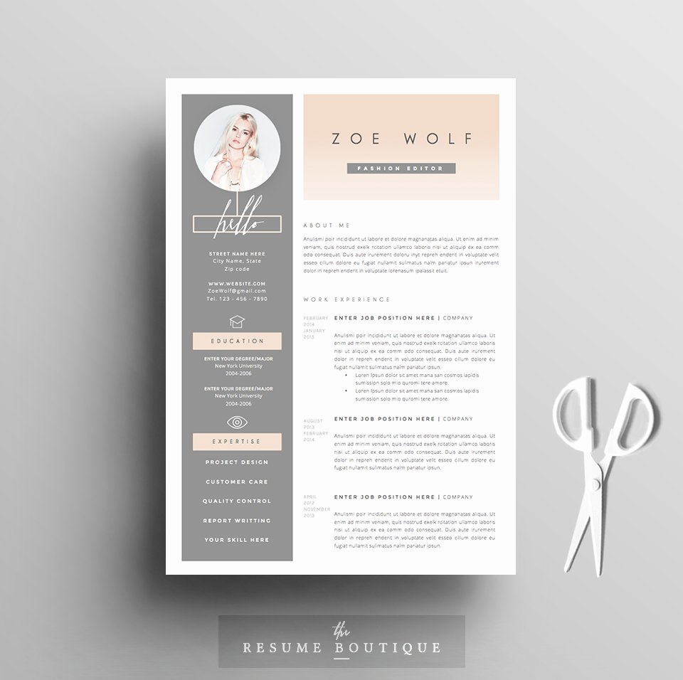 Free Creative Resume Templates Word Fresh Resume Template 5pages