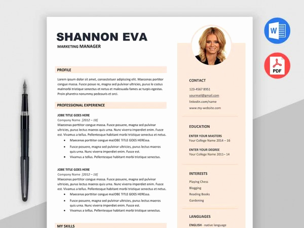 Free Creative Resume Templates Word Lovely [2018] Free Resume Templates Ms Word Pdf Download In 1 Minute