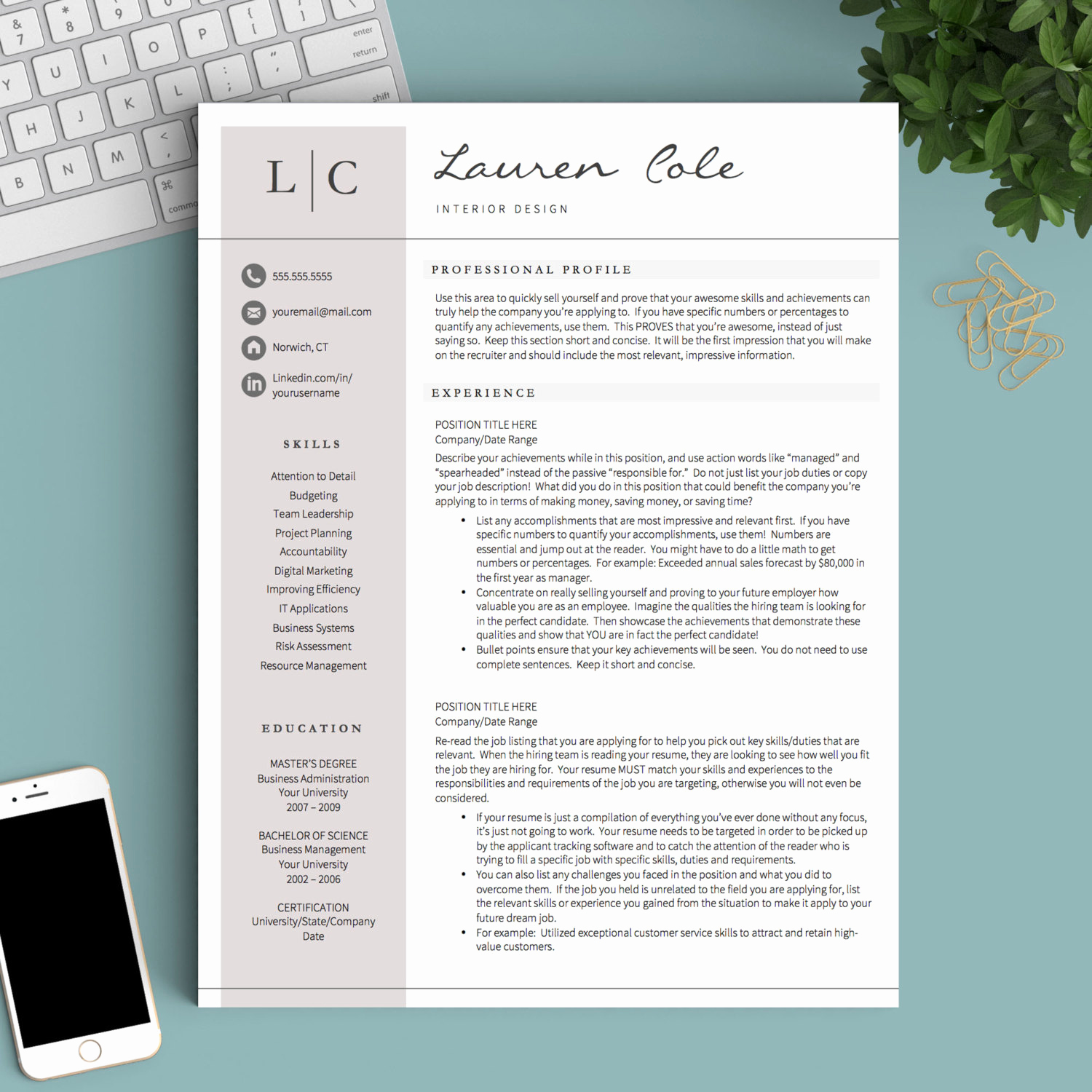 Free Creative Resume Templates Word Luxury Creative Resume Template for Word & Pages 1 2 and 3 Page