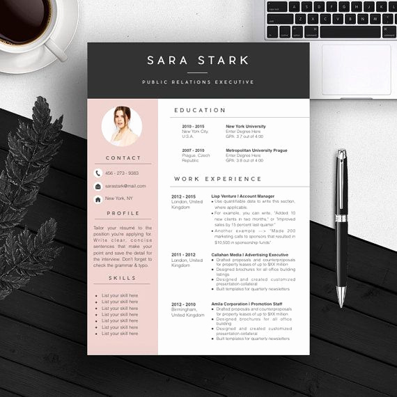 Free Creative Resume Templates Word New Professional Cv Template Bundle