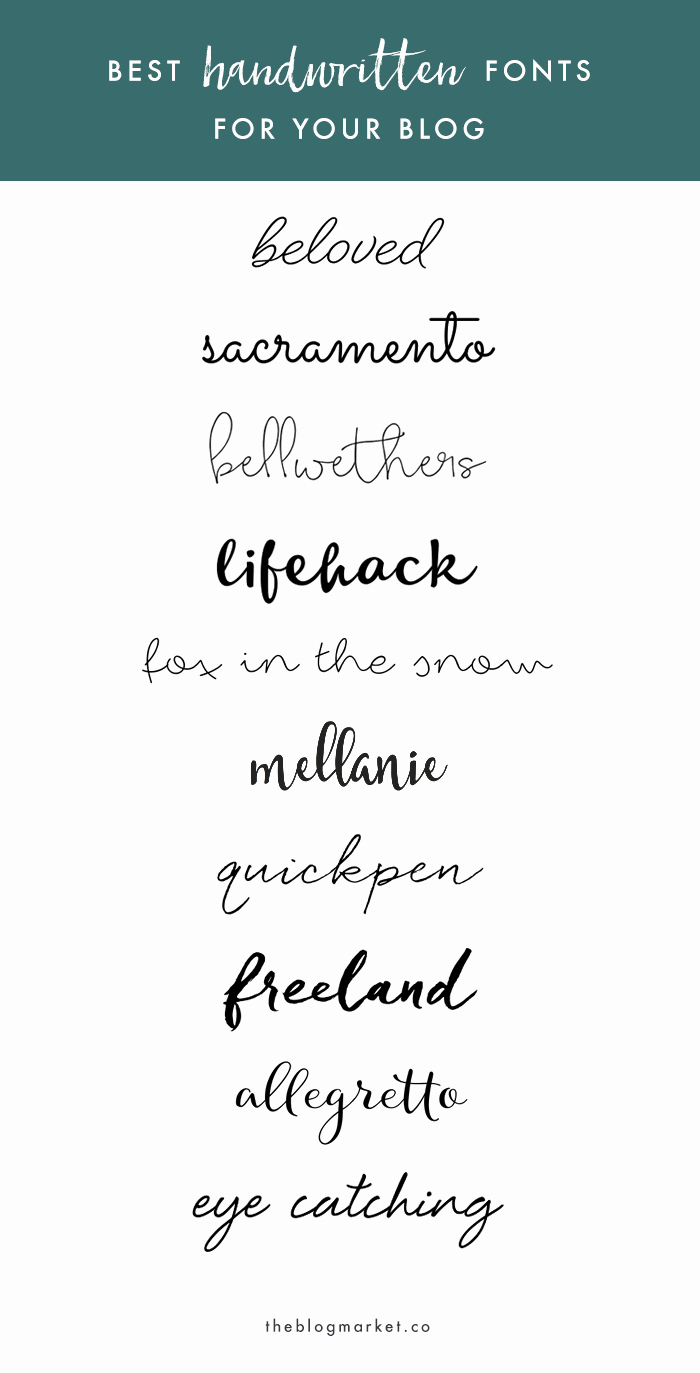 Free Cursive Handwriting Fonts Lovely Best Handwritten Fonts for Your Blog