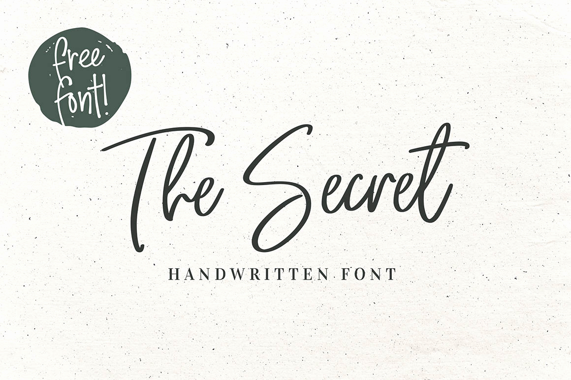 Free Cursive Handwriting Fonts Unique the Secret Script Font Befonts