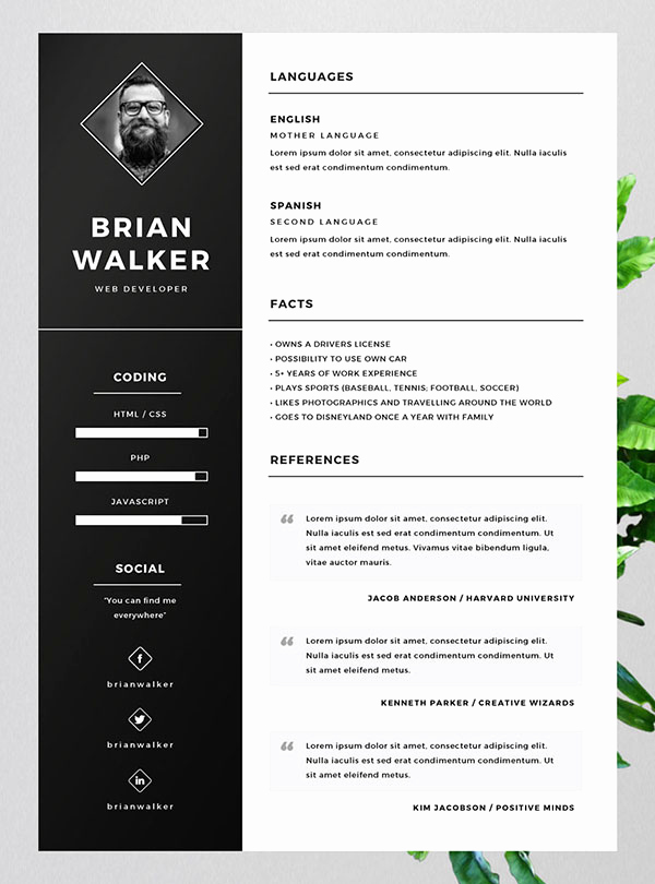 Free Cv Template Word Elegant 10 Best Free Resume Cv Templates In Ai Indesign Word