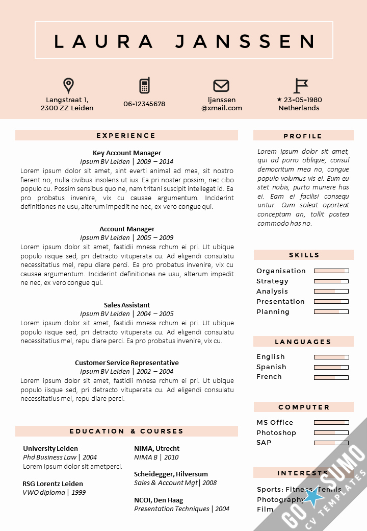 Free Cv Template Word Elegant where Can You Find A Cv Template