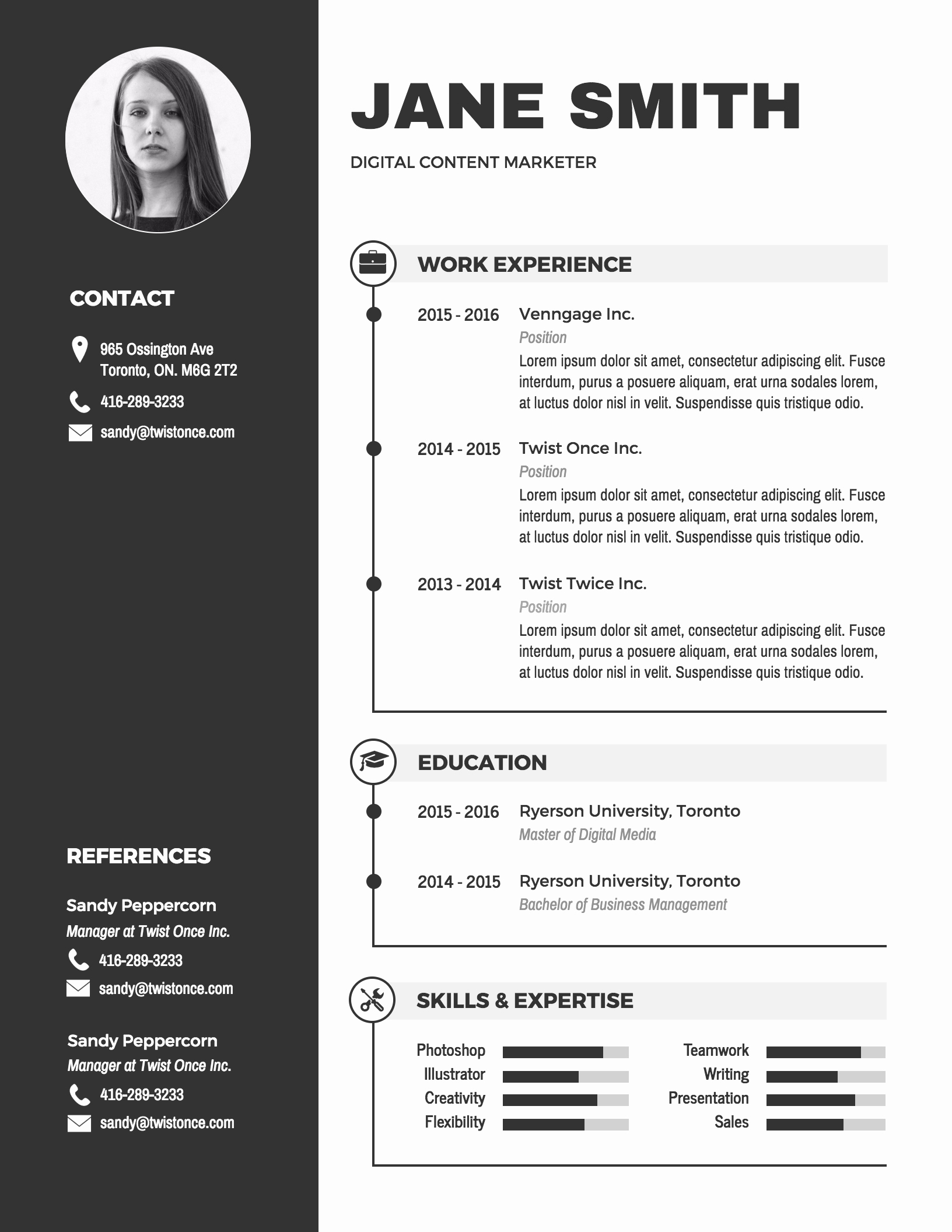 Free Cv Template Word Fresh Infographic Resume Template Venngage