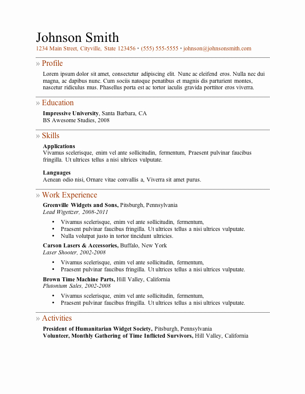 Free Cv Template Word Fresh My Perfect Resume Templates