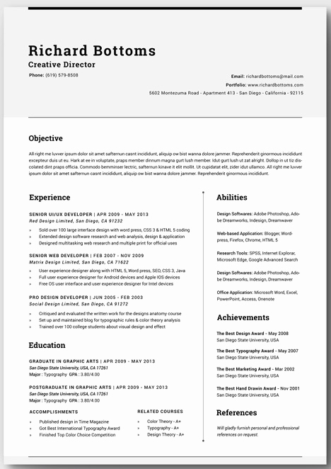 Free Cv Template Word Inspirational 20 Free Resume Word Templates to Impress Your Employer