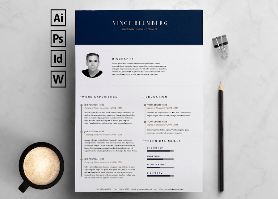 Free Cv Template Word Inspirational 50 Best Resume Templates for Word that Look Like Shop