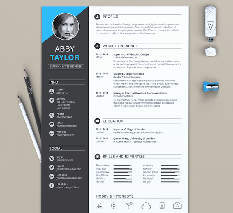 Free Cv Template Word Luxury 65 Eye Catching Cv Templates for Ms Word