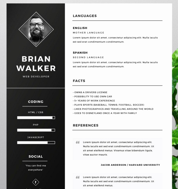 Free Cv Template Word Unique 130 New Fashion Resume Cv Templates for Free Download