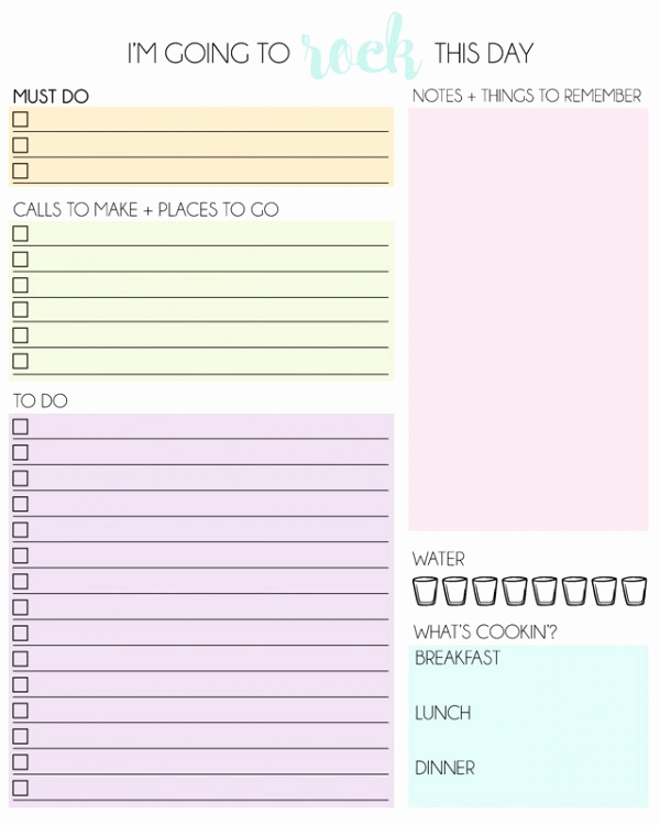 Free Daily Planner Printables Awesome Free Printable Daily Planner Mrs Happy Homemaker