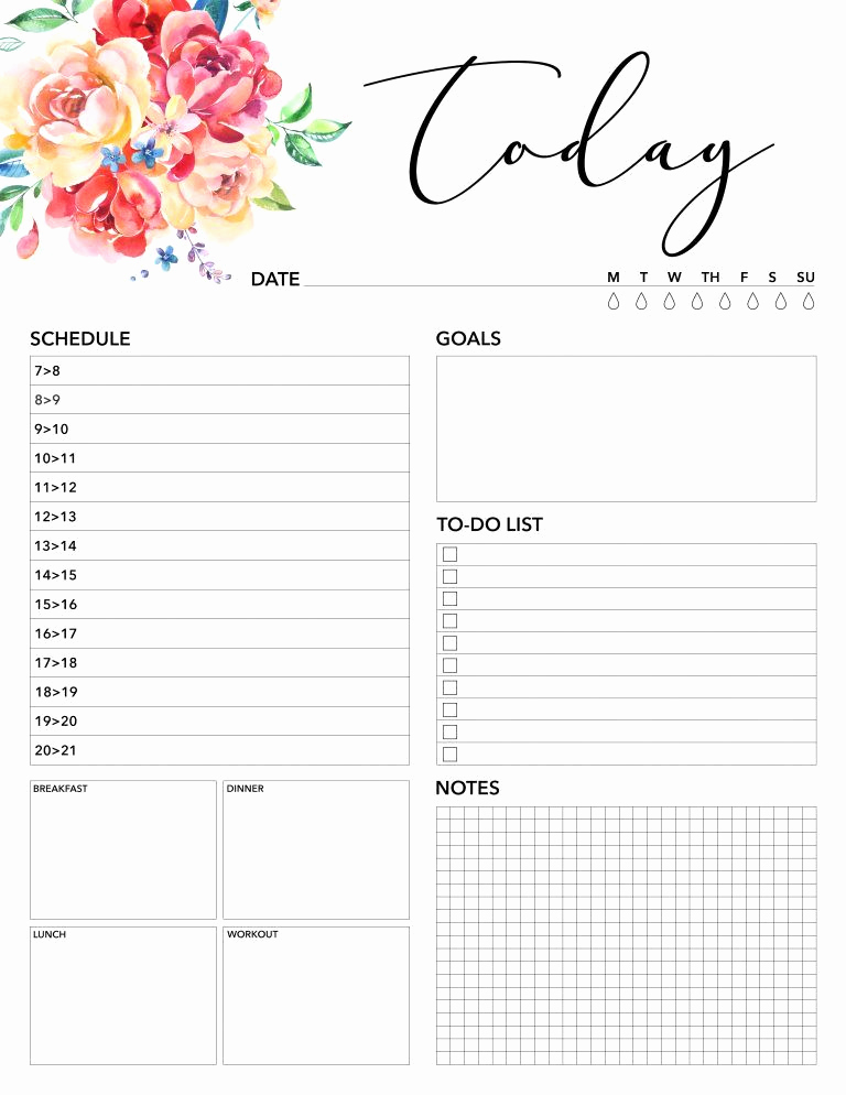 Free Daily Planner Printables Unique Free Printable 2018 Planner 50 Plus Printable Pages