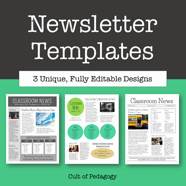 Free Editable Newsletter Templates Awesome Corkboard Connections why No E Reads Your Classroom