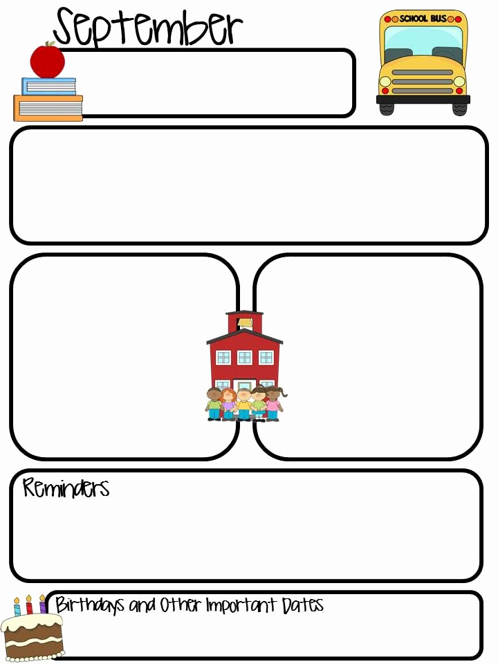 Free Editable Newsletter Templates Lovely Thrifty In Third Grade Class Monthly Newsletter