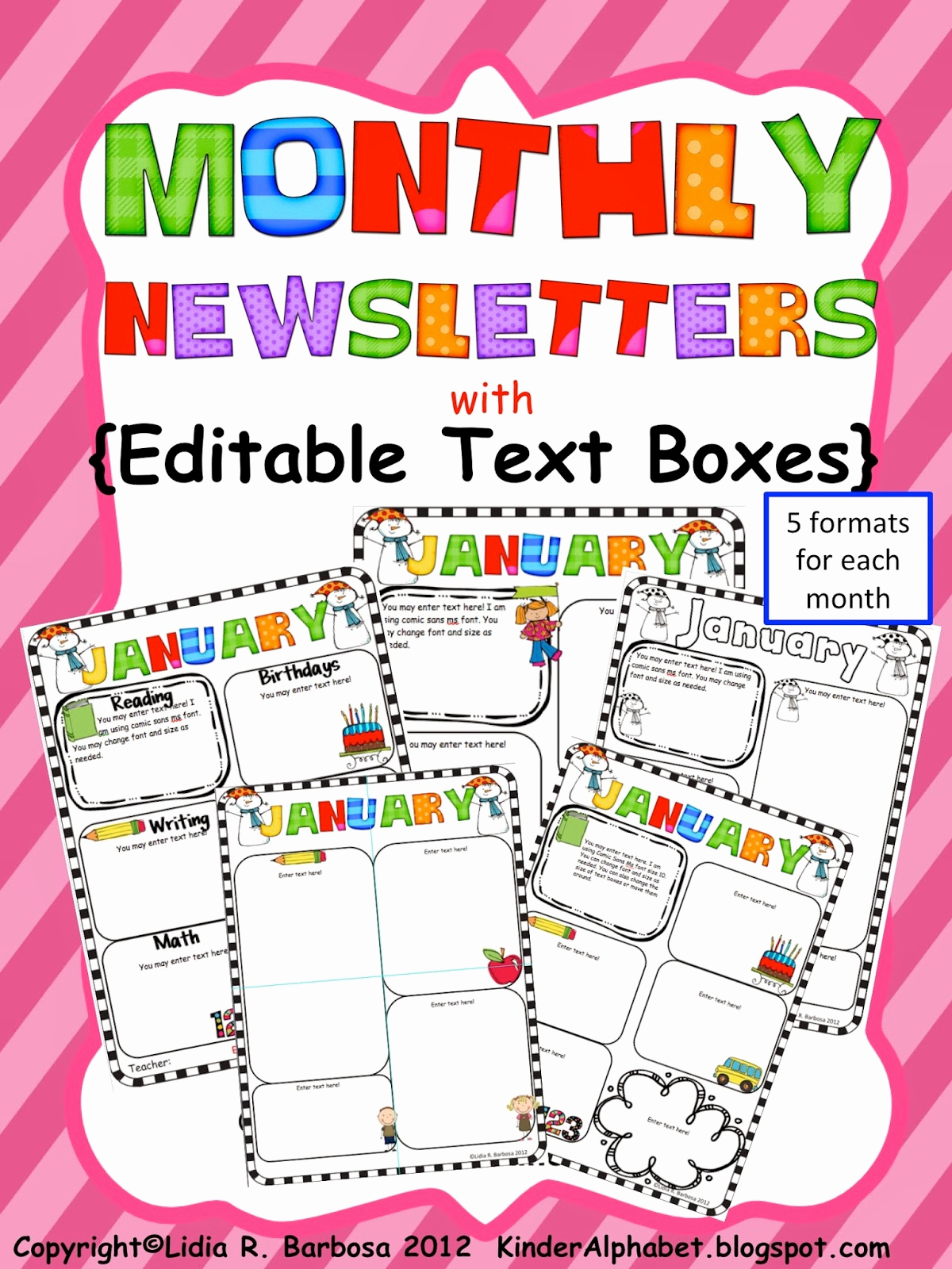 Free Editable Newsletter Templates New Kinder Alphabet — Teacher Resources In English and Spanish