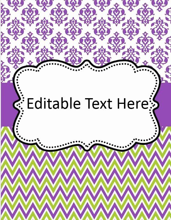 Free Editable Printable Binder Covers Awesome Editable Binder Cover Templates Google Search