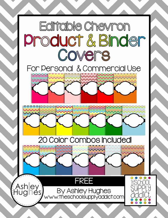 Free Editable Printable Binder Covers Beautiful Free Editable Chevron Product & Binder Covers