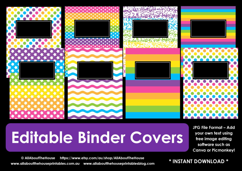 Free Editable Printable Binder Covers Elegant Editable Printable Binder Cover Notebook Planner Cover School
