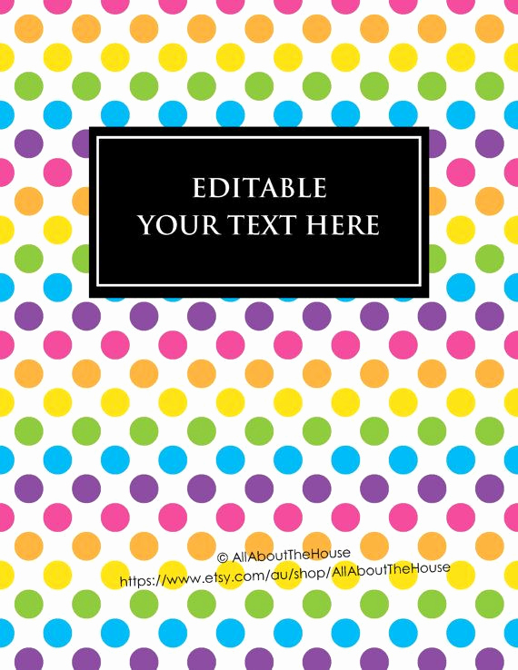 Free Editable Printable Binder Covers Fresh Editable Printable Binder Cover Notebook Planner Cover