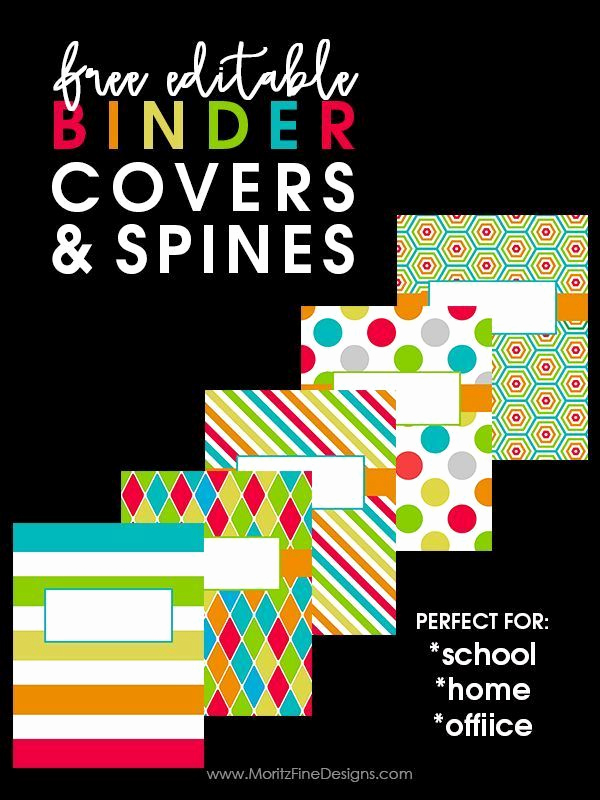 Free Editable Printable Binder Covers Inspirational Back to School Binder Covers
