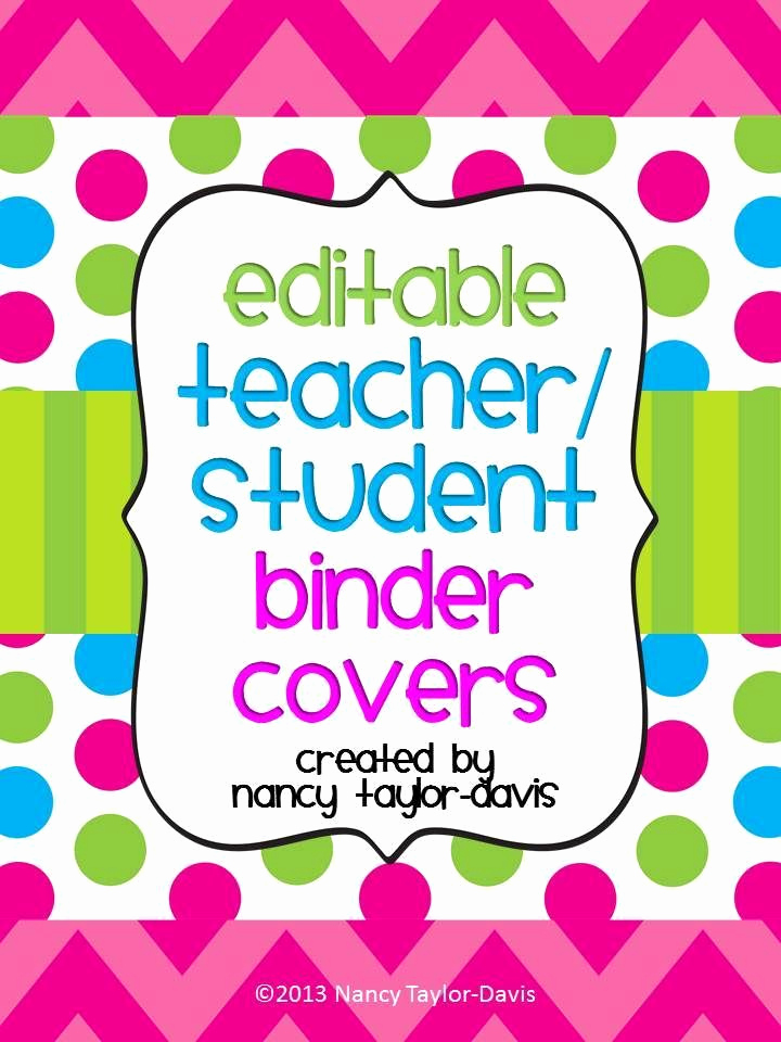Free Editable Printable Binder Covers New Teacher or Student Binder Covers with Spines Editable