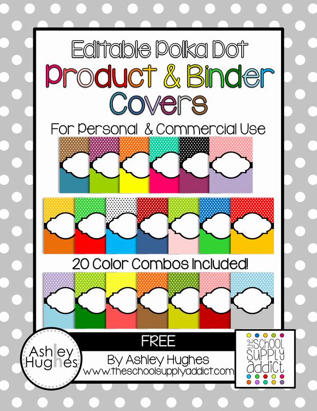 Free Editable Printable Binder Covers Unique Free Editable Polka Dot Product & Binder Covers