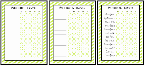 Free Editable Printable Chore Charts Elegant Free Printable Chore Charts for Kids