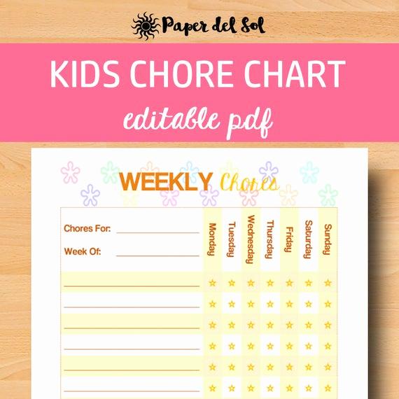 Free Editable Printable Chore Charts New Editable Chore Chart Kids Chores Printable Kids Chore Chart