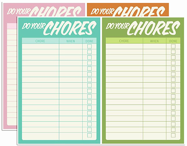 Free Editable Printable Chore Charts New Free Digital Download – Chore Charts