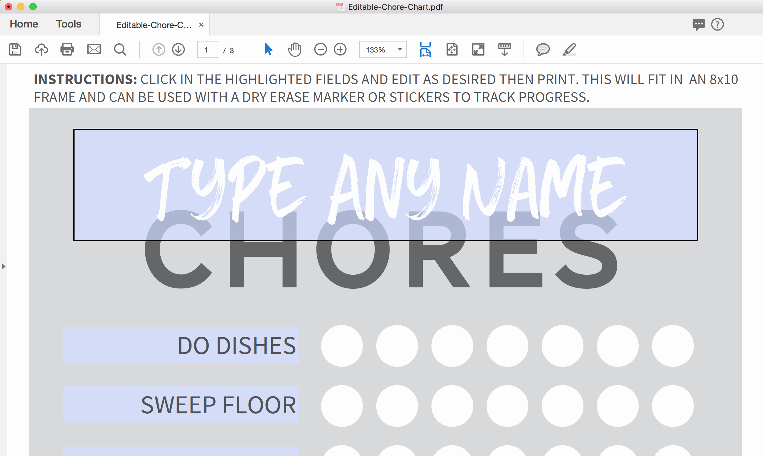 Free Editable Printable Chore Charts Unique Editable & Free Printable Chore Chart Paging Supermom