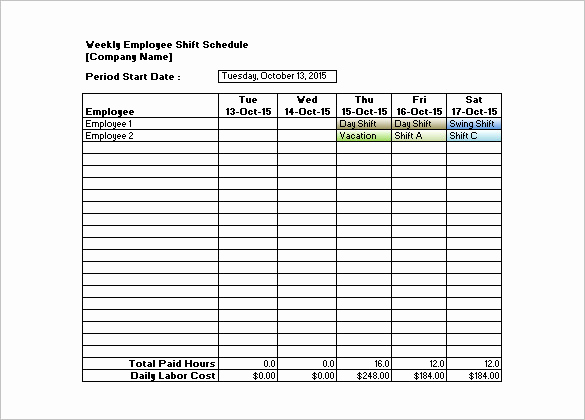 Free Employee Schedule Template Awesome Shift Schedule Template 20 Free Word Excel Pdf format