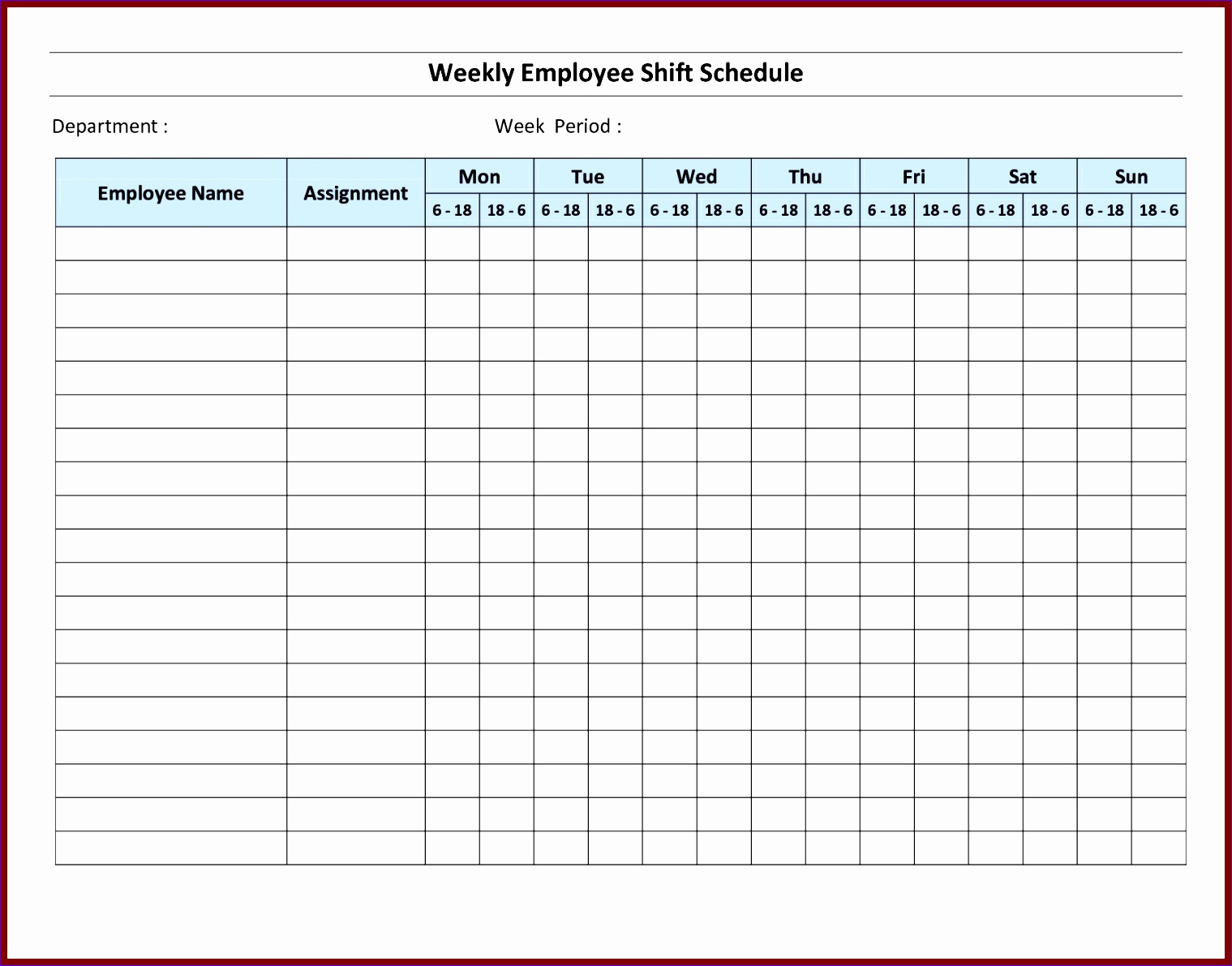 Free Employee Schedule Template Beautiful 7 Monthly Staff Schedule Template Excel Exceltemplates