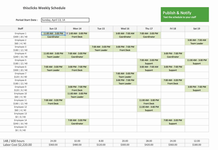 Free Employee Schedule Template Best Of Free Excel Template for Employee Scheduling