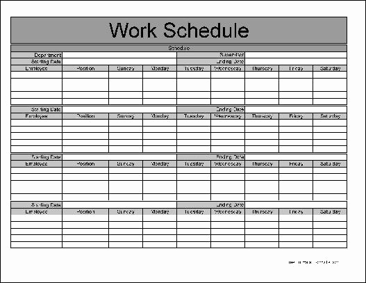 Free Employee Schedule Template New Free Basic Monthly Work Schedule From formville