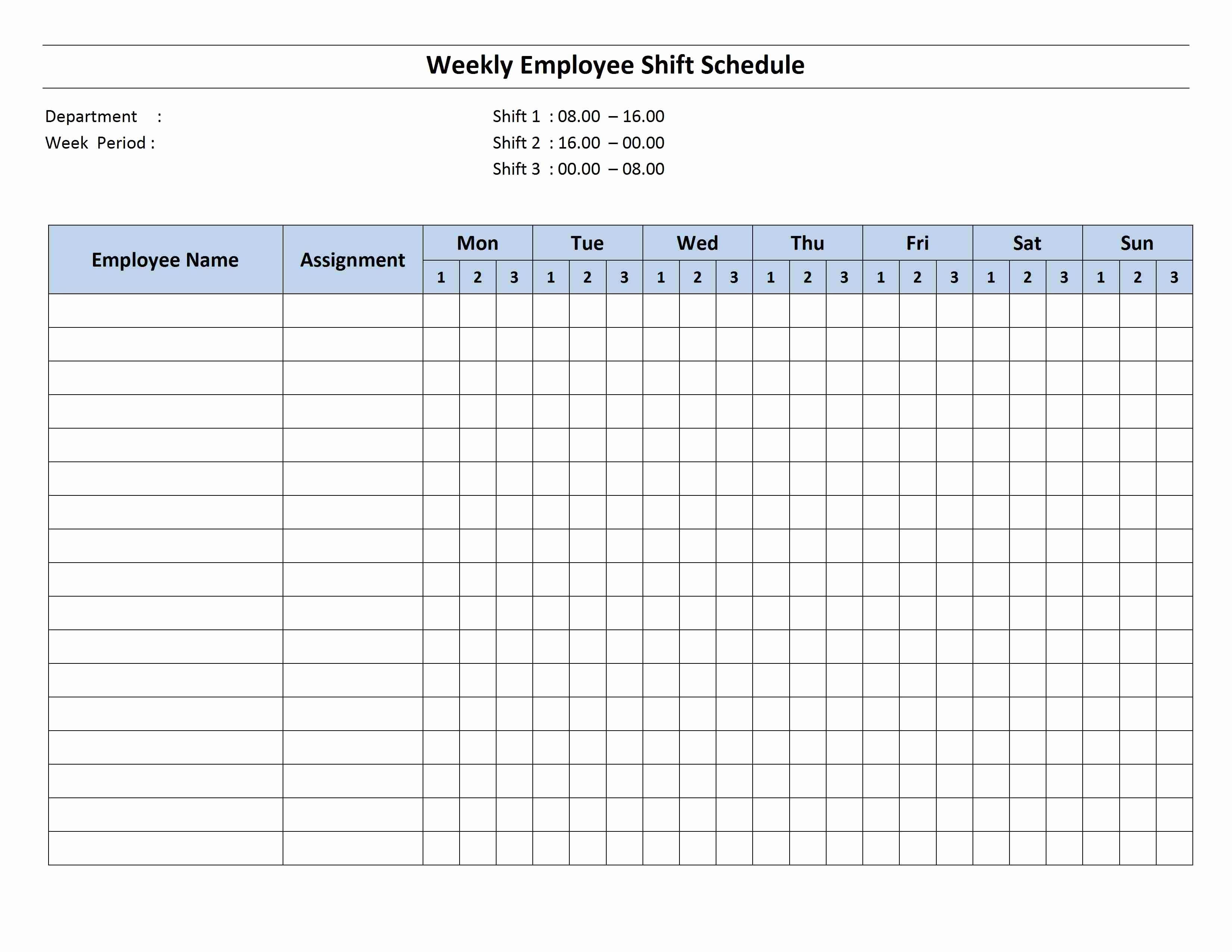 Free Employee Schedule Template New Free Monthly Work Schedule Template