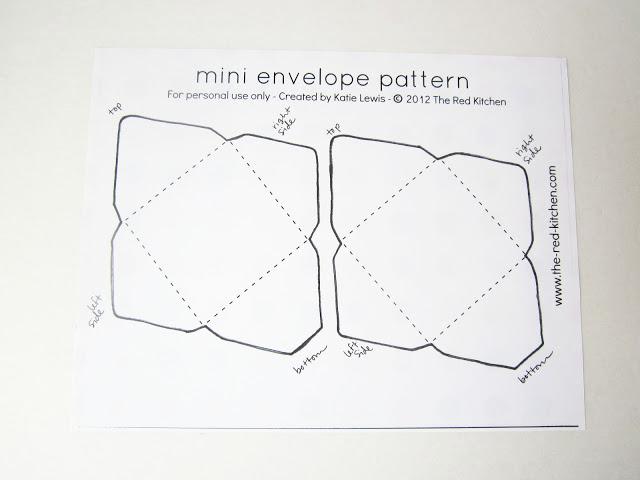 Free Envelope Printing Template Elegant the Red Kitchen Diy Mini Envelopes Free Printable