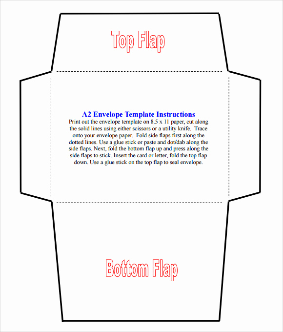 Free Envelope Printing Template Fresh Sample A2 Envelope Template 7 Documents In Word Pdf