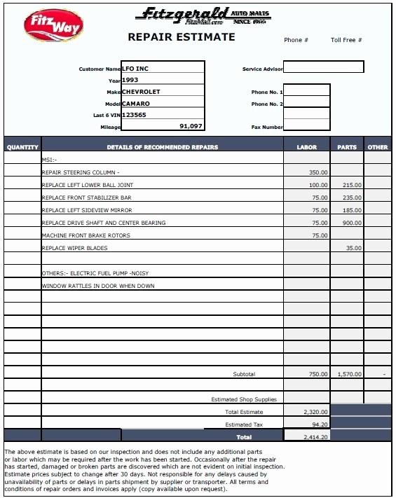 Free Estimate Template Pdf Elegant 12 Free Sample Home Repair Estimate Templates Printable