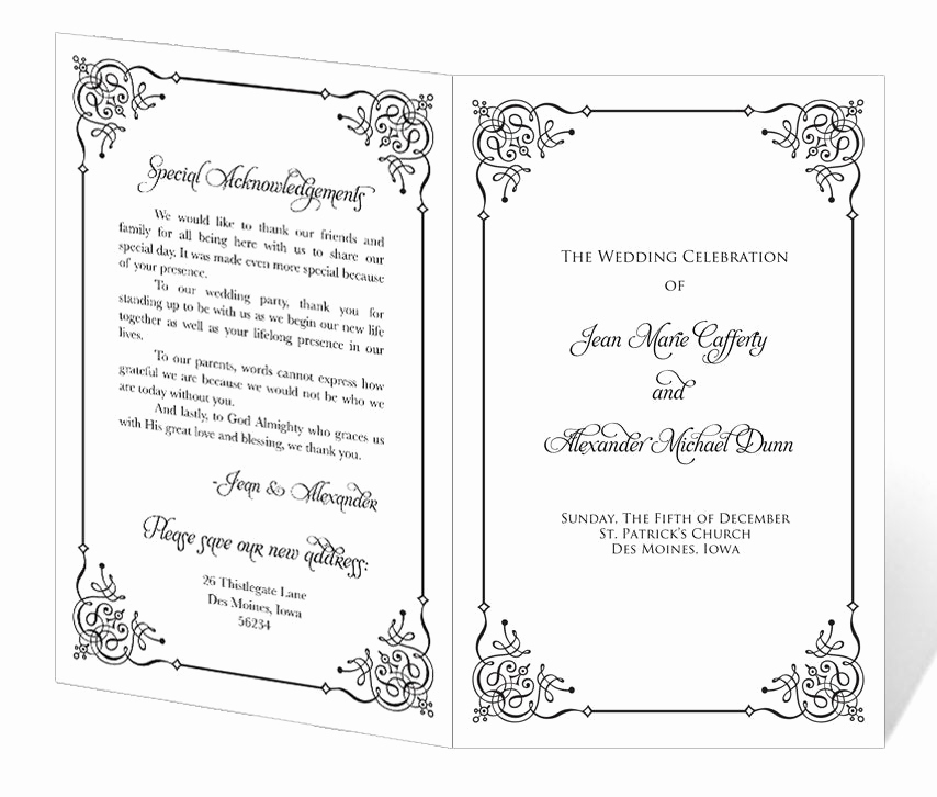 Free event Program Templates Awesome Wedding Program Template Printable Instant Download