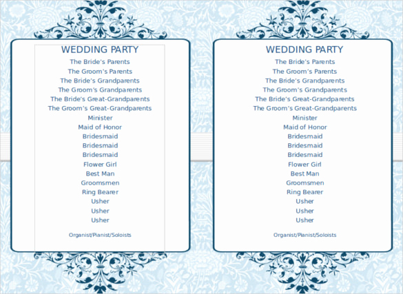 Free event Program Templates Fresh 8 Word Wedding Program Templates Free Download
